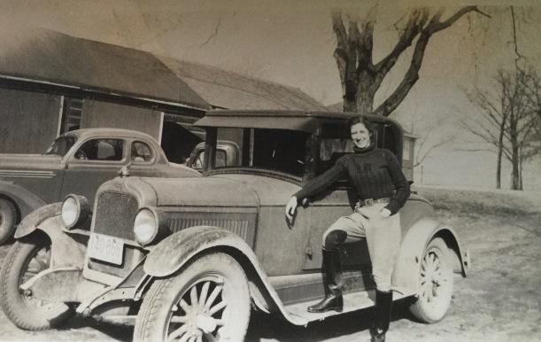 Ruth on car